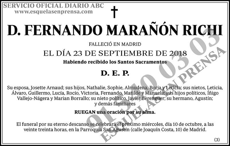 Fernando Marañón Richi
